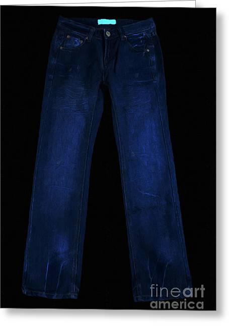 Mundane Greeting Cards - Pair of Jeans 1 - Painterly Greeting Card by Wingsdomain Art and Photography