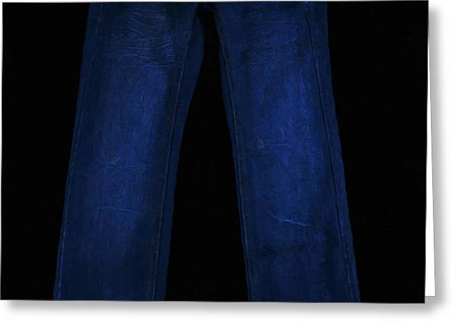Pair of Jeans 1 - Painterly Greeting Card by Wingsdomain Art and Photography