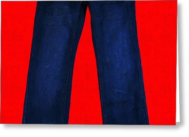 Pair of Jeans 2 - Painterly Greeting Card by Wingsdomain Art and Photography