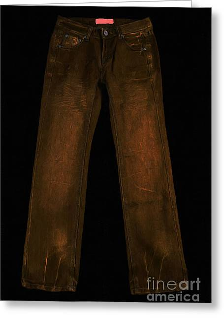 Mundane Greeting Cards - Pair of Jeans 3 - Painterly Greeting Card by Wingsdomain Art and Photography