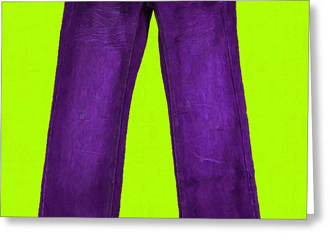 Pair of Jeans 5 - Painterly Greeting Card by Wingsdomain Art and Photography