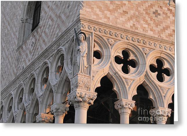 Historic Architecture Greeting Cards - Palace Ducal. Venice Greeting Card by Bernard Jaubert