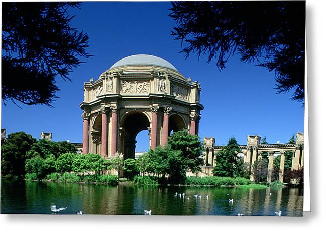 Outdoor Theater Greeting Cards - Palace Of Fine Arts Greeting Card by Ron Watts