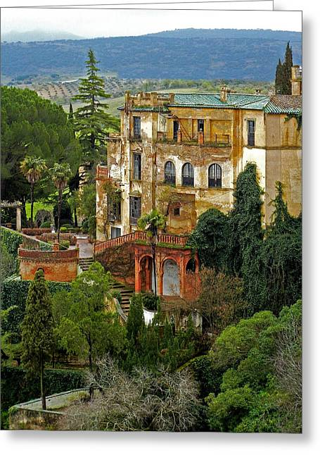 Unique Sights Greeting Cards - Palace of the Arabian King - Ronda Greeting Card by Juergen Weiss