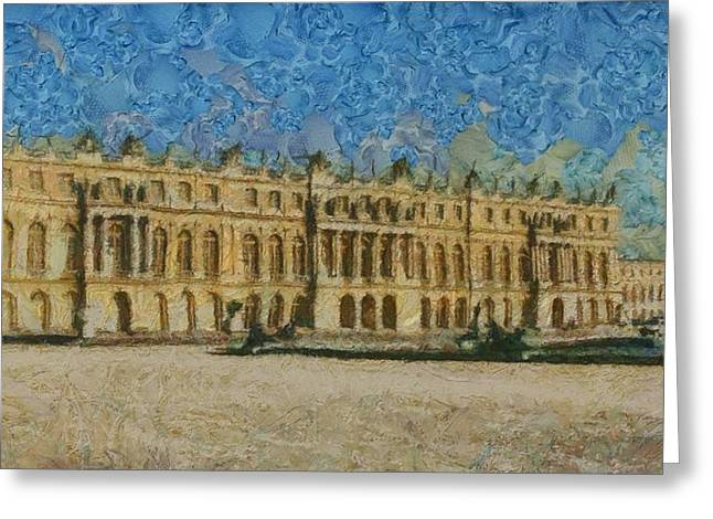 Recently Sold -  - Chateau Greeting Cards - Palace of Versailles Greeting Card by Aaron Stokes