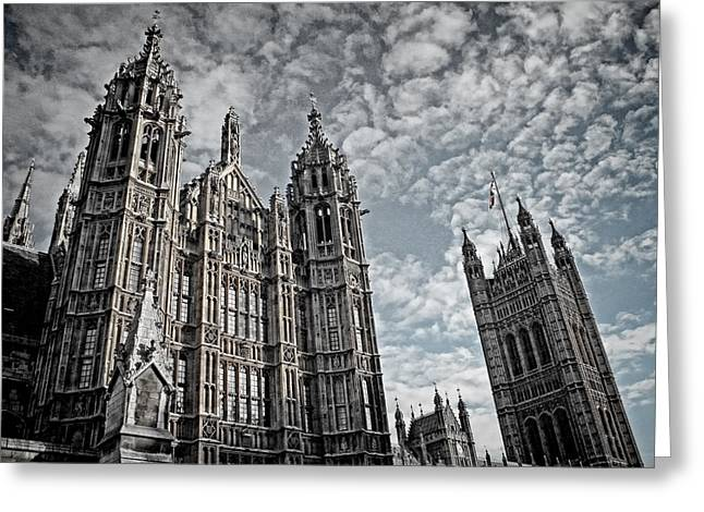 Perpendicular Greeting Cards - Palace of Westminster Greeting Card by Heather Applegate