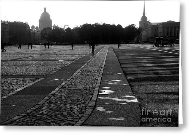 Olia Saunders Greeting Cards - Palace Square in Saint Petersburg Greeting Card by Design Remix