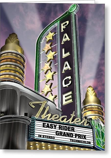 Sunset Posters Digital Art Greeting Cards - Palace Theater Greeting Card by Anthony Ross
