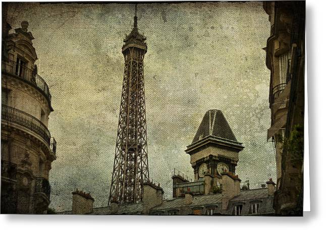 Pale Paris Greeting Card by Nomad Art And  Design