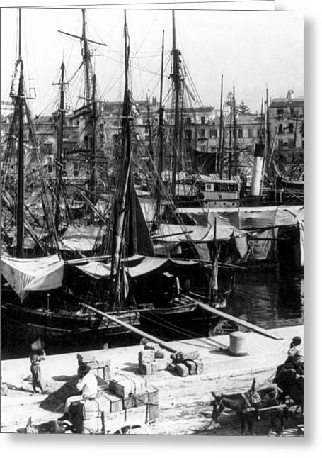 Palermo Sicily - Shipping Scene At The Harbor Greeting Card by International  Images