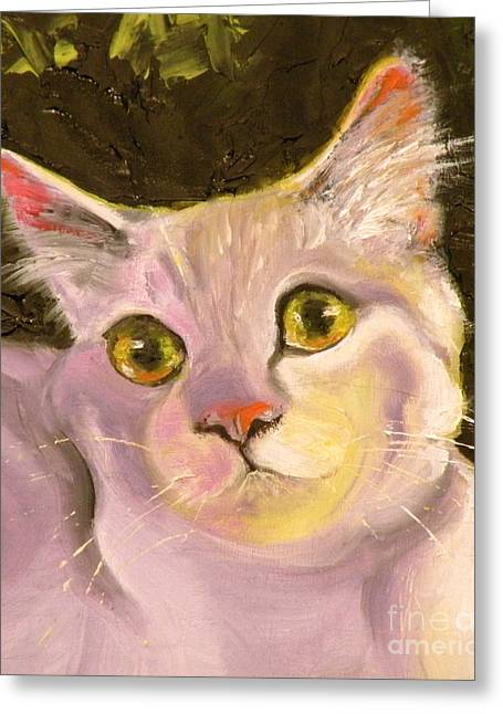 Kitten Prints Greeting Cards - Palette Pal Close Up Greeting Card by Susan A Becker