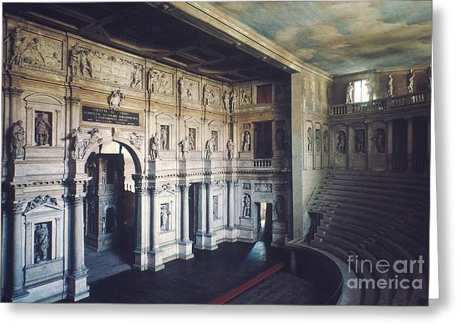 1579 Greeting Cards - Palladio: Teatro Olimpico Greeting Card by Granger