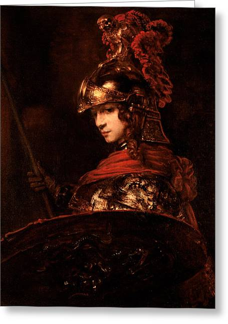 17th Greeting Cards - Pallas Athena  Greeting Card by Rembrandt