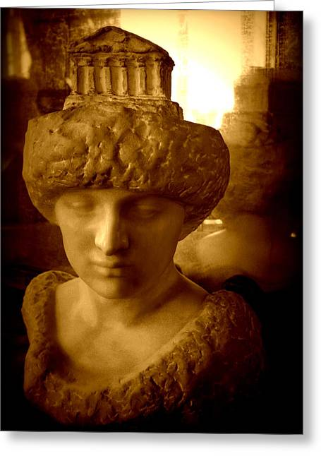 Greek Sculpture Greeting Cards - Pallas au Parthenon Greeting Card by Susie Weaver