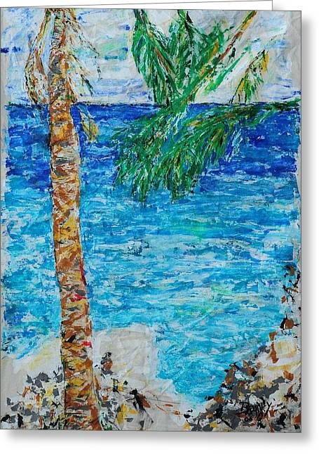 Tropical Photographs Paintings Greeting Cards - Palm 06 Greeting Card by Bradley Bishko