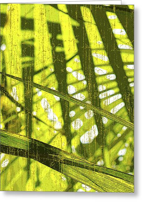 Compositions Mixed Media Greeting Cards - Palm B3 Greeting Card by Kaypee Soh - Printscapes
