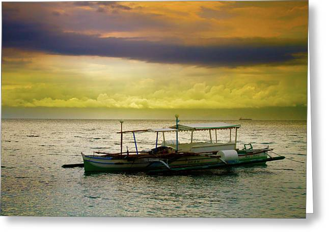 Insogna Greeting Cards - Palm Boat Sunset Greeting Card by James BO  Insogna