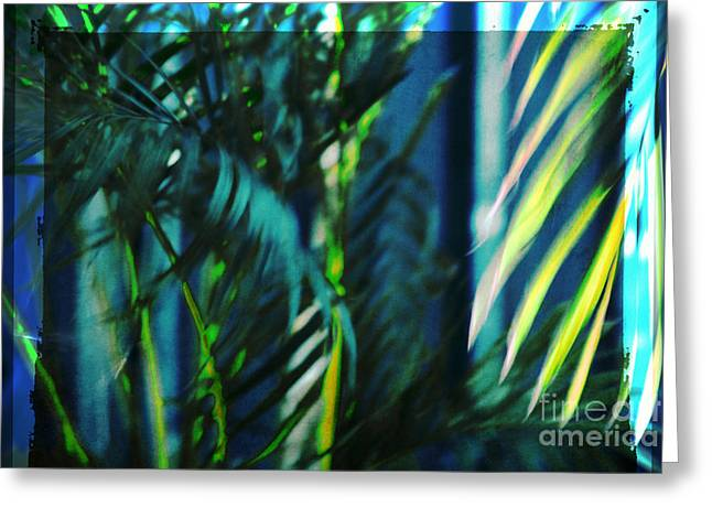 Monochrome Greeting Cards - Palm fronds 3 Greeting Card by Susanne Van Hulst