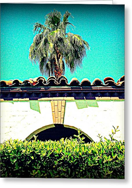 Historic Architecture Greeting Cards - Palm Springs Desert Spanish 4 Greeting Card by Randall Weidner