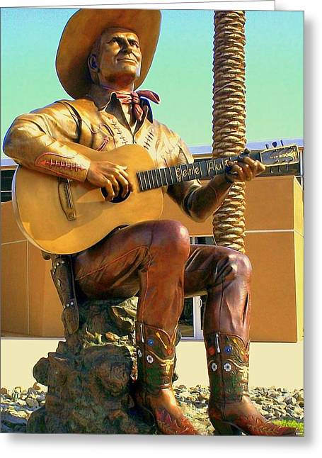 Autry Greeting Cards - Palm Springs Gene Autry 2 Greeting Card by Randall Weidner
