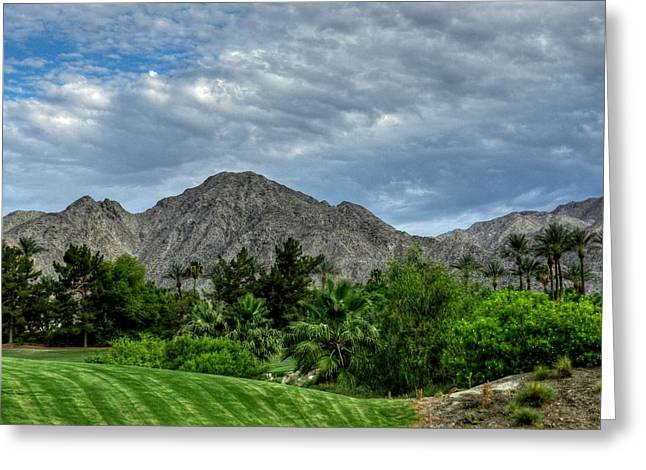 Lush Green Greeting Cards - Palm Springs HDR 014 Greeting Card by Lance Vaughn