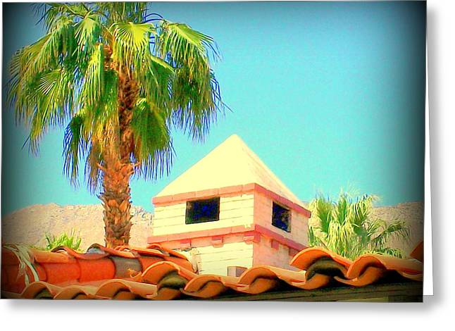 Palm Springs Pyramid Colonial Greeting Card by Randall Weidner