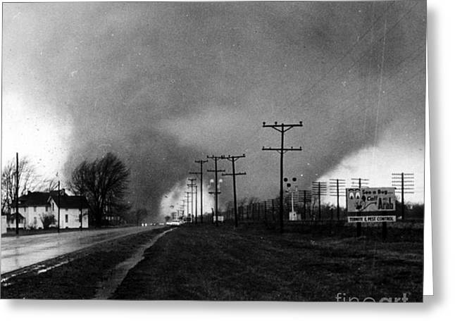 Funnel Clouds Greeting Cards - Palm Sunday, Tornado Outbreak Ii, 1965 Greeting Card by Science Source