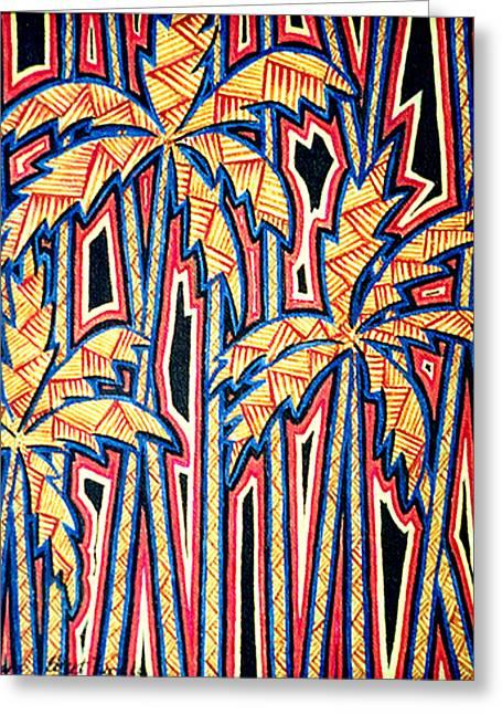 Sharon Ebert Greeting Cards - Palm Trees Greeting Card by Sharon Ebert