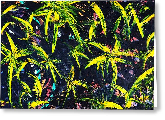 Tropical Photographs Paintings Greeting Cards - Palmas Noche 08 Greeting Card by Xole