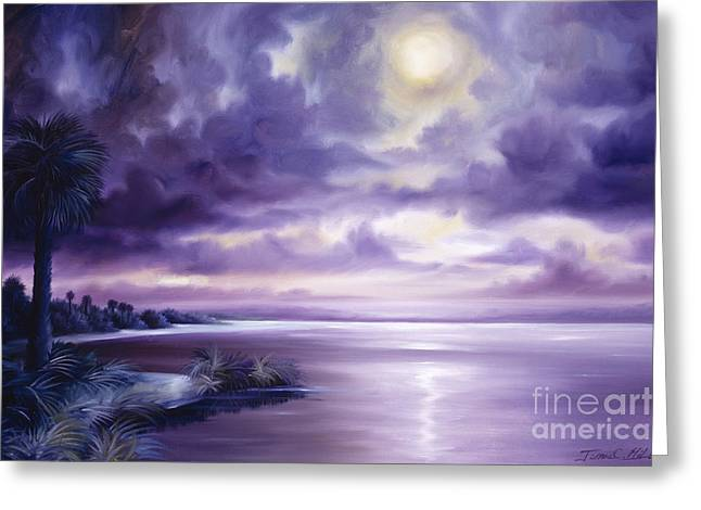James Christopher Hill Greeting Cards - Palmetto Moonscape Greeting Card by James Christopher Hill