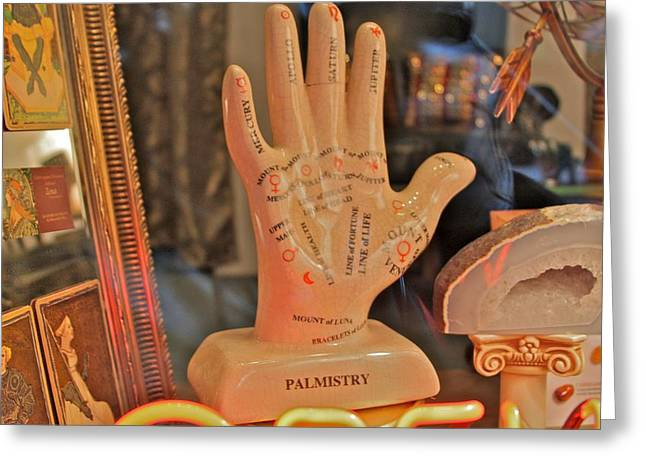 Palmistry Greeting Card by Jerry Patterson