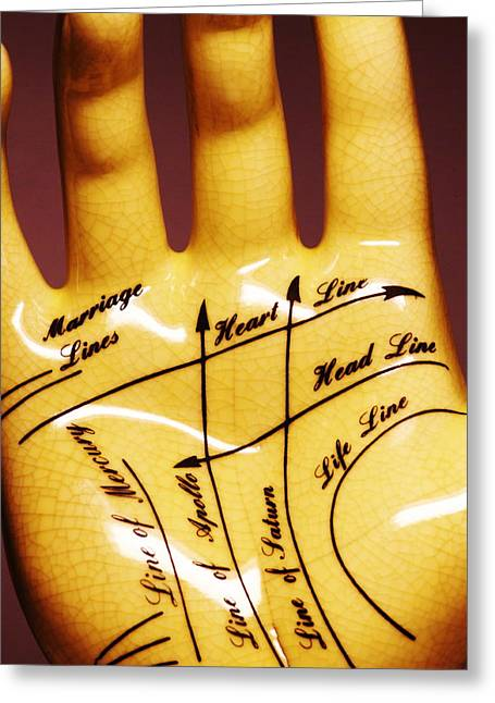 Foretelling Greeting Cards - Palmistry Greeting Card by Pasieka