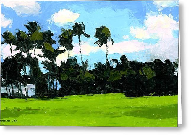Palms At Kapiolani Park Greeting Card by Douglas Simonson