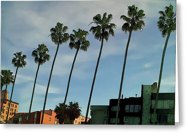 La Jolla Art Greeting Cards - Palms In La Jolla Greeting Card by Russ Harris
