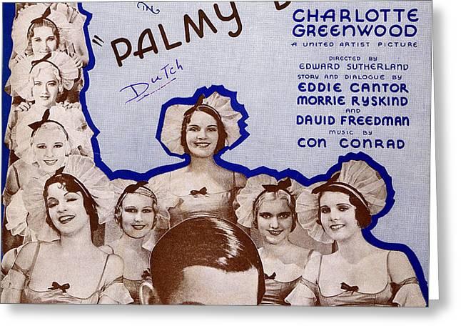 Palmy Days Greeting Card by Mel Thompson