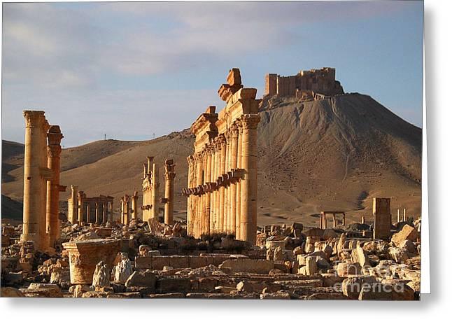 Issam Hajjar Greeting Cards - Palmyra Greeting Card by Issam Hajjar