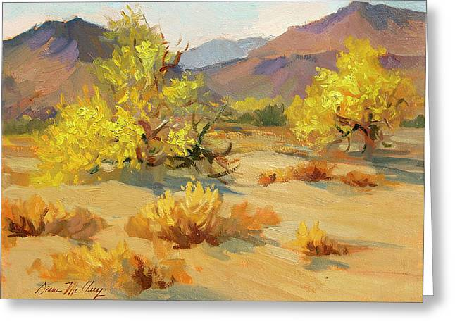 In Bloom Greeting Cards - Palo Verde in Bloom Greeting Card by Diane McClary