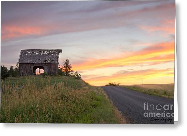 North Idaho Greeting Cards - Palouse Barn and Sunset Greeting Card by Idaho Scenic Images Linda Lantzy