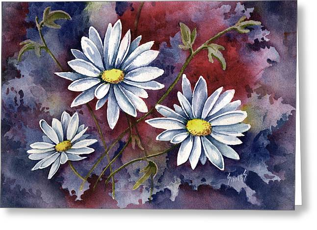 Pampa Daisies Greeting Card by Sam Sidders