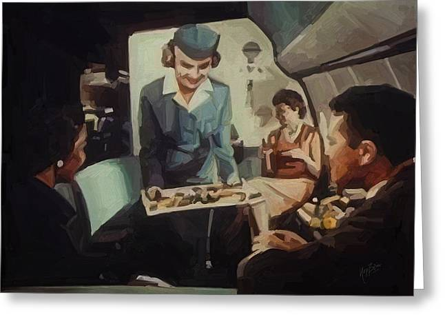 American Airways Greeting Cards - Pan American Airways FA Greeting Card by Nop Briex