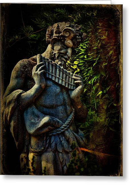 Pan Pipes Greeting Cards - Pan  Greeting Card by Chris Lord