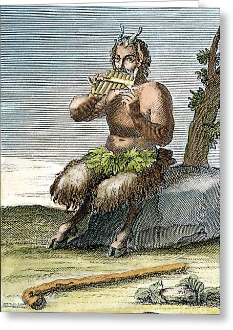 Pan Pipes Greeting Cards - Pan, The Nature-god Greeting Card by Granger