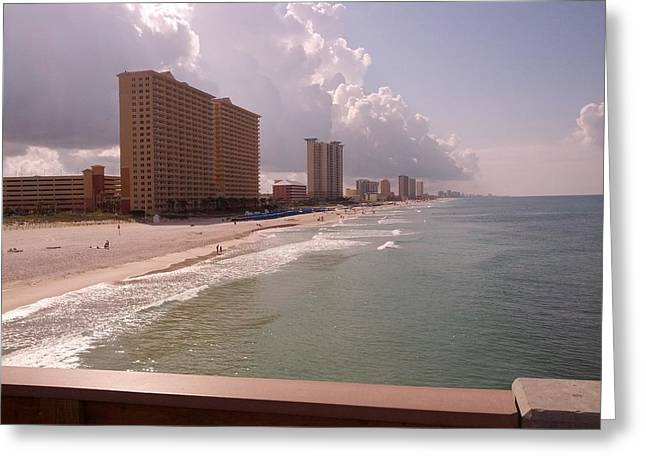 Panama City Beach Greeting Cards - Panama City Beach from the pier Greeting Card by Andy Kim