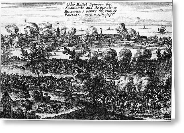 Captain America Greeting Cards - Panama City Raid, 1671 Greeting Card by Granger