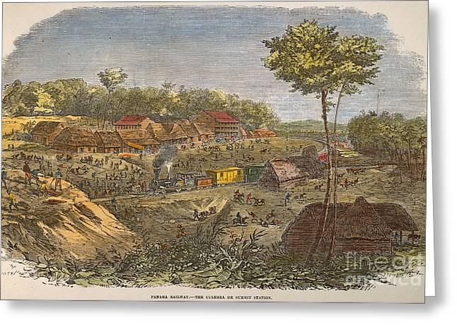 Culebra Greeting Cards - Panama: The Culebra, 1855 Greeting Card by Granger