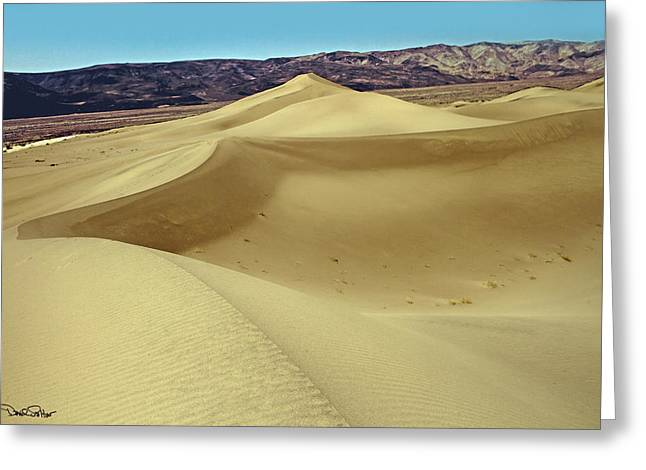 Panamint Valley Greeting Cards - Panamint Dunes Greeting Card by David Salter