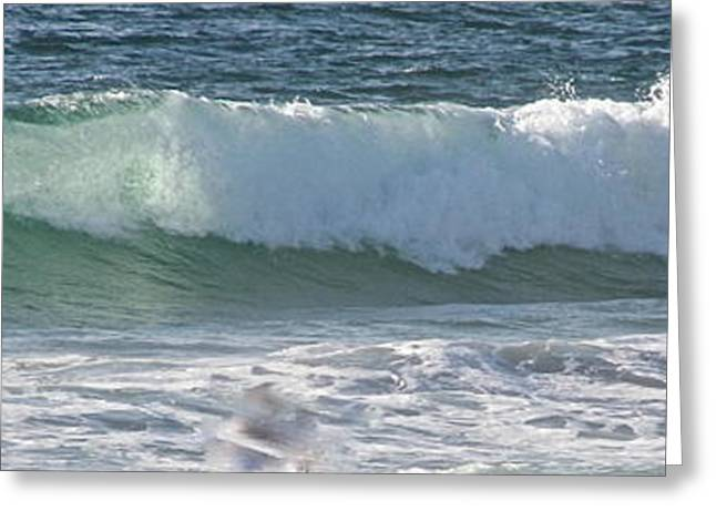 Jeremy Greeting Cards - Panaromic Wave Number 1 Greeting Card by Jeremy McKay