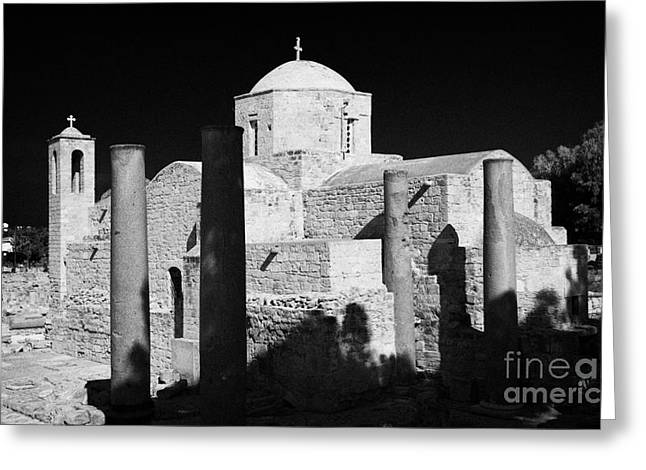 Pafos Greeting Cards - Panayia Chrysopolitissa Church Paphos Republic Of Cyprus Europe Greeting Card by Joe Fox