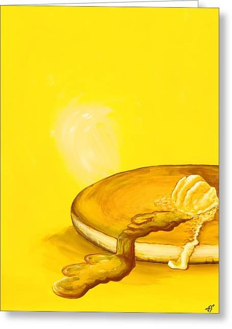 Pancakes Greeting Cards - Pancake Greeting Card by David Junod