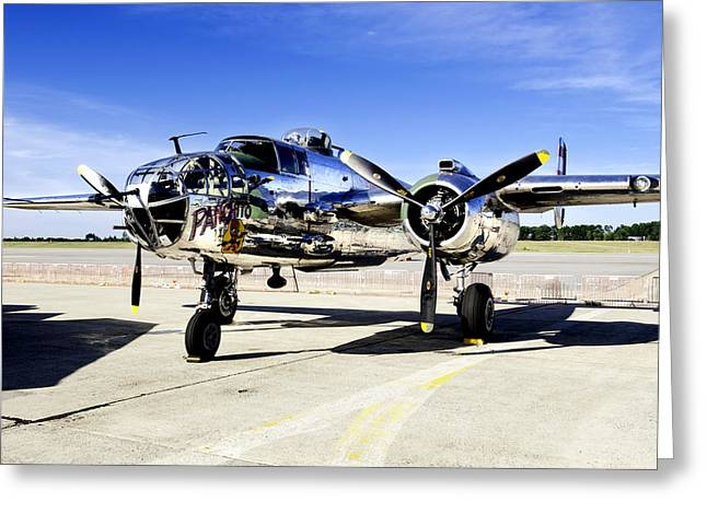 B25 Photographs Greeting Cards - Panchito Greeting Card by Greg Fortier